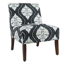 Carson Global Navy Armless Accent Chair