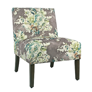 Carson Gray Floral Armless Accent ChairAccent Chairs   Arm Chairs   Kirklands. Red Accent Chair For Bedroom. Home Design Ideas