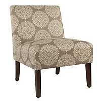 Carson Brown Medallion Armless Accent Chair