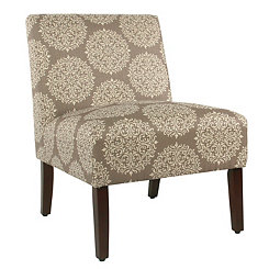 Carson Brown Medallion Armless Accent Chair