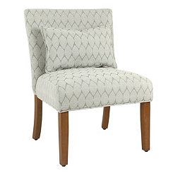 Parker Textured Gray Accent Chair With Pillow