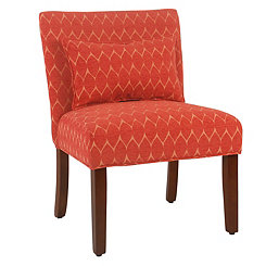 Parker Textured Melon Accent Chair With Pillow