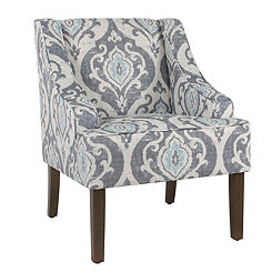 Suri Blue Swoop Accent Chair