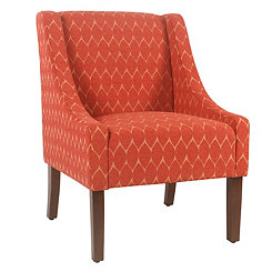 Grace Textured Melon Swoop Accent Chair