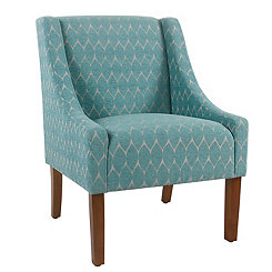 Grace Textured Teal Swoop Accent Chair