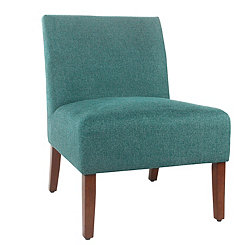 Leah Teal Slipper Chair
