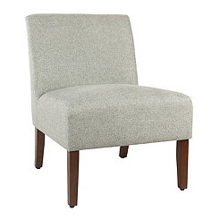 Carson Gray Armless Accent Chair
