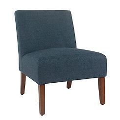 Carson Indigo Armless Accent Chair
