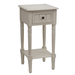 Antique White Simplify 1-Drawer Accent Table
