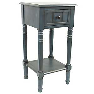 Antique Navy Simplify 1-Drawer Accent Table