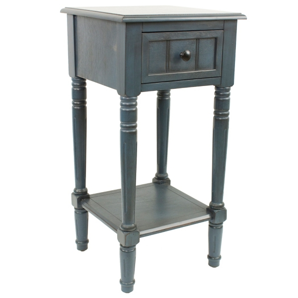 ... Antique Navy Simplify 1 Drawer Accent Table ...
