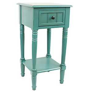 Blue Simplify 1-Drawer Accent Table