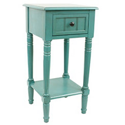 Sea Green Simplify 1-Drawer Accent Table