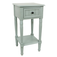 Antique Ice Blue Simplify 1-Drawer Accent Table