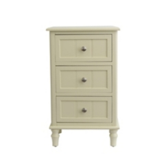 Buttermilk 3-Drawer Side Table
