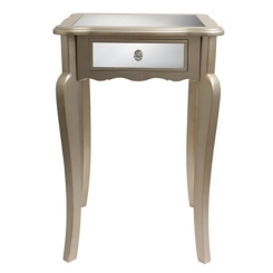 Silver Mirrored Accent Table