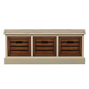 Chestnut Melody 3-Drawer Storage Bench