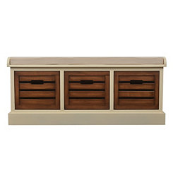 Chestnut Melody 3-Drawer Storage Bench