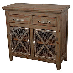 2-Door Chicken Wire Cabinet