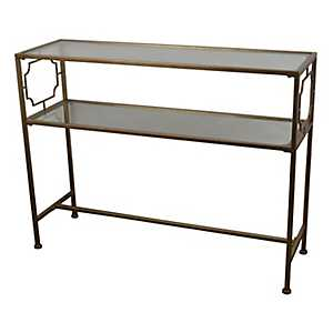 Champagne and Glass Console Table