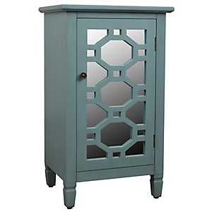 Iced Blue Antique Mirrored Cabinet