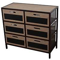 Wood and Wire Storage Cabinet