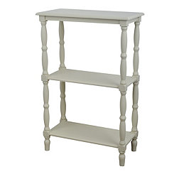 Buttermilk 3-Tier Wooden Shelf