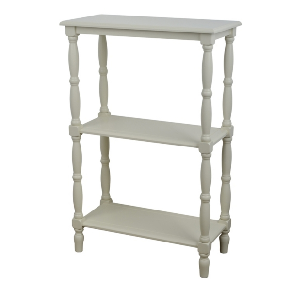 buttermilk 3tier wooden shelf