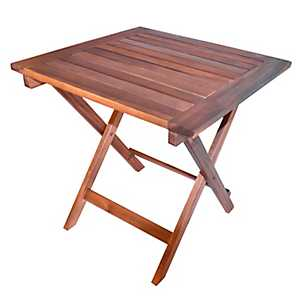 Natural Acacia Square Folding Table