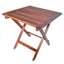 Natural Acacia Square Folding Table