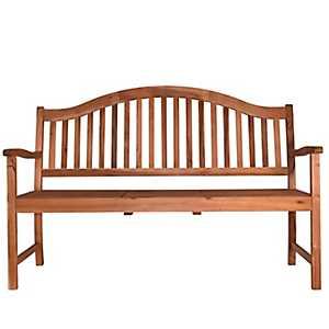 Natural Acacia Bench with Center Table