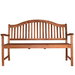Natural Acacia Bench with Center Table