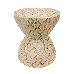 White Mosaic Accent Table