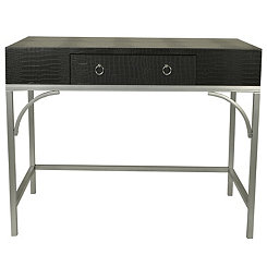 Black and Silver Crock Writing Desk