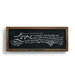 Love is Powerful Wooden Wall Plaque