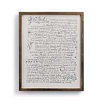 Gratitude Manifesto Wooden Wall Plaque