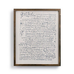 Gratitude Manifesto Wooden Wall Plaque