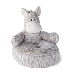 Zebbie Zebra Plush Pillow Chair