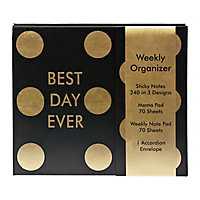 Gold Dot Weekly Organizer