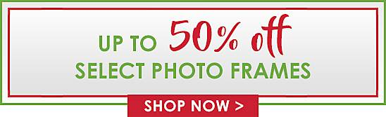 Up to 50% Off Select Photo Frames - Shop Now