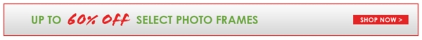 Up to 60% Off Select Photo Frames - Shop Now