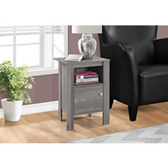 Gray Night Stand with Storage