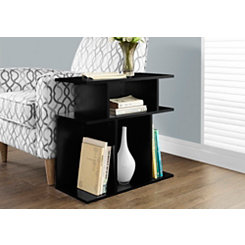 Black Open Concept Accent Table