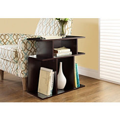 Cappuccino Open Concept Accent Table
