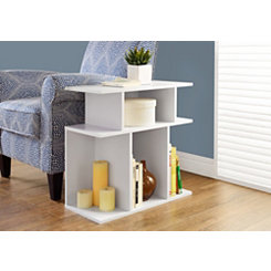 White Open Concept Accent Table