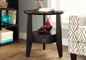 Cappuccino 1-Drawer Accent Table