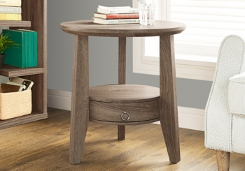 Reclaimed Wood 1-Drawer Accent Table