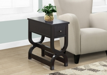 Cappuccino Double Horseshoe Accent Table