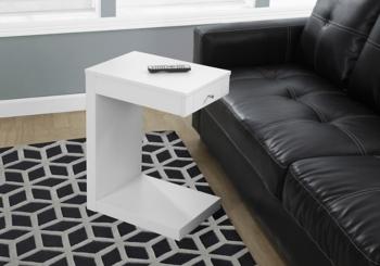 White 1-Drawer C-Table