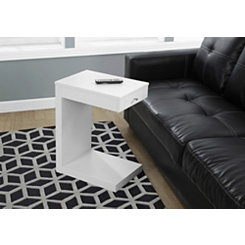 White 1-Drawer C-Table